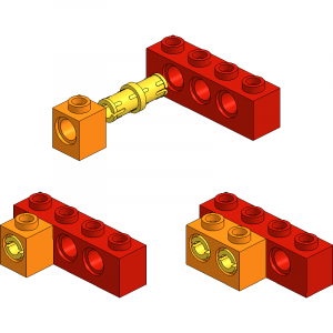 Shift-Pinned Technic Bricks