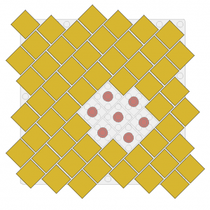 2 x 2 Tile Twisted on Plate