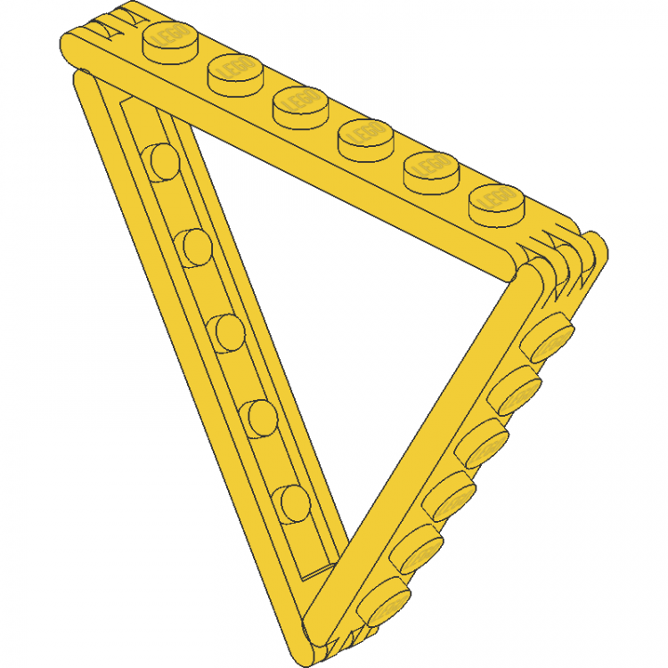 Hinge 1 x 6 Triangle